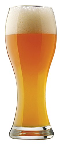- Libbey 4 Piece Craft Brews Clear Wheat Beer Glass Set, 23 oz, Clear