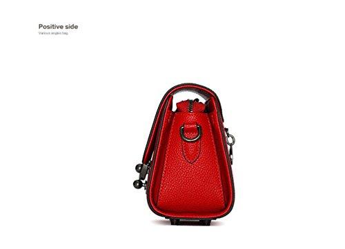 Sucastle ® 2018 Borsa a tracolla da donna / vera pelle / Retro / Grande capacità / multifunzione / impermeabile /(19*8.2*14cm )