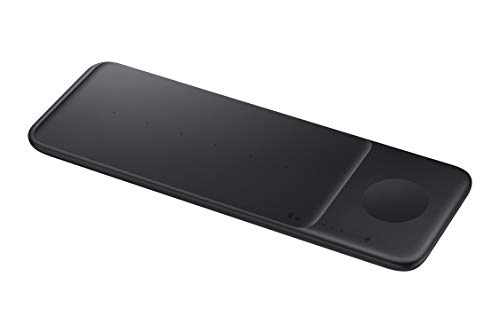 Samsung Electronics Wireless Charger Trio, Qi Compatible - Charge up to 3 Devices at Once – for Galaxy Phones, Buds, Watches, and Apple iPhone Devices – Black (US Version)