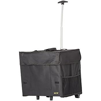 Wide Load Smart Cart, Black  Rolling Multipurpose Collapsible Basket Cart Scrapbooking Laundry