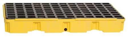 Eagle 1632D Yellow 2 Drum Modular Platform with Drain