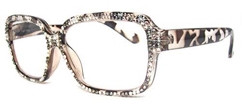 Glamour Swarovski Reading Glasses (+1.50, Brown)