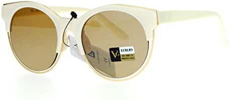 VG Occhiali Womens Sunglasses Unique Round Double Frame Flat Lens