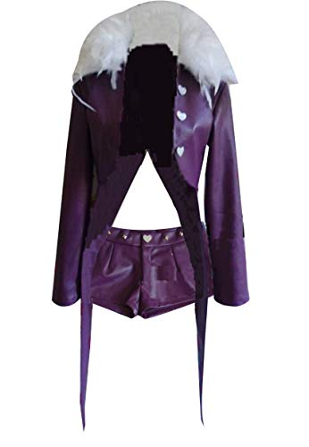 Poetic Walk The Seven Deadly Sins Merlin Cosplay Costume Womens Uniform Halloween Outfit Custom (Womens-L, Purple) -