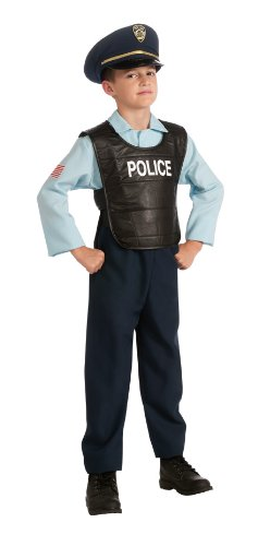 Child's Police Officer Costume, Small (Officer Fancy Dress)