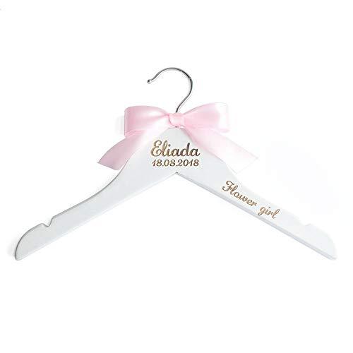 LOVEhandmade Personalized Flower Girl Hangers, Custom Hanger, Personalized Kids Hangers, Bridal Shower Gift -