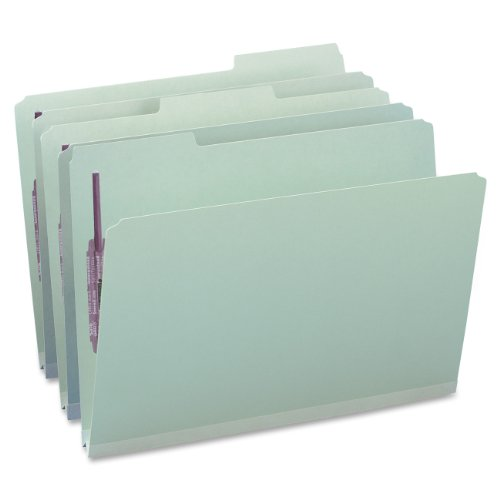 Smead Pressboard Fastener File Folder with SafeSHIELD Fasteners, 2 Fasteners, 1/3-Cut Tab, 1