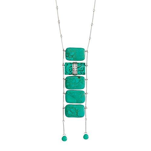 (Silpada 'Make a Splash' Natural Howlite Drop Necklace in Sterling Silver)
