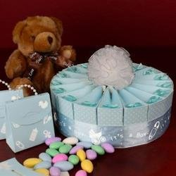 WMU - 1 Tier Baby Shower Favor Cake Kit - It's a Boy