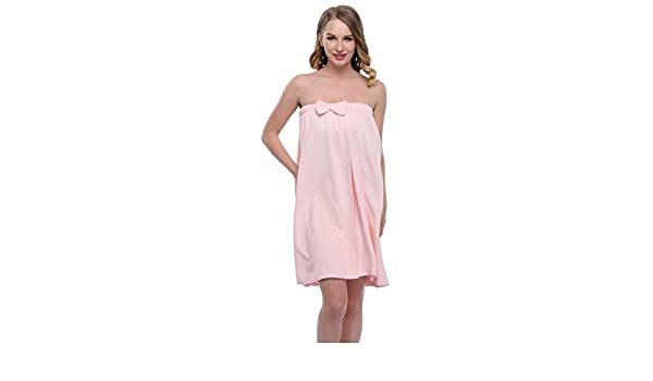 expressbuynow Spa toalla de baño Wrap para mujer, 10 colores - Rosado -: Amazon.es: Ropa y accesorios