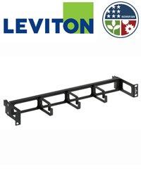 1ru Horizontal Cable (Leviton 49253-RCM Horizontal Patch Cord Organizer Recessed 1RU 4