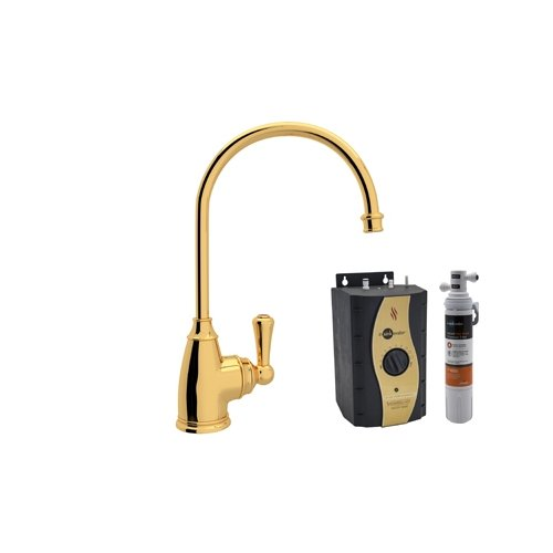 Rohl U.KIT1325L-IB-2 Special Order Only Non-Cancelable and Non-Returnable Kit Perrin & Rowe Kitchen Hot Water Dispenser with Single Lever and Inca Brass by Rohl