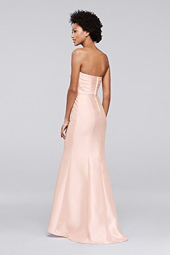Dress Bridesmaid 4XLF19279 Length Marine Extra Style Mikado Strapless Extra Length Strapless Bridesmaid Mikado wFz8x