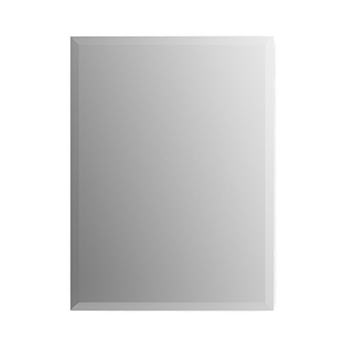 Delta Wall Mount 19 in. x 28 in. Small (S2) Rectangular Frameless TRUClarity Deluxe Glass Bathroom Mirror with Easy-Cleat Flush Mounting Hardware by Delta