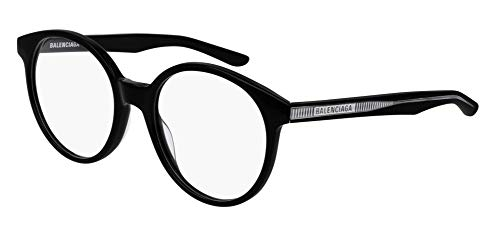 Balenciaga BB0030O Eyeglasses 001 Black-Black 52mm