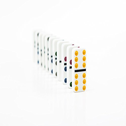 AOQING Dominos Set, Double 6 Color Dot Dominoes,Set of 28 Dominos Game (Pack of 2) by AOQING (Image #5)
