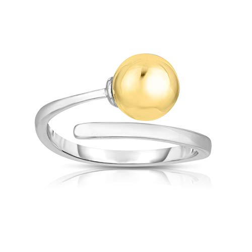 Unique Royal Jewelry 925 Solid Sterling Silver Cape Cod Snake Flexible Cuff Ring One Size Fits All. (14K Yellow Gold Plated)