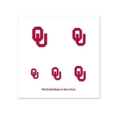 Football Fanatics NCAA Oklahoma Sooners 16 Mini Temporary Nail Tattoos