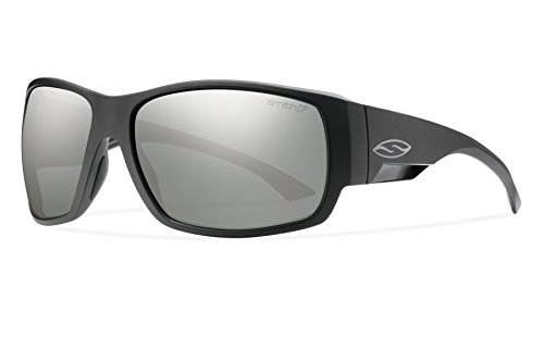 Smith Optics Dockside Lifestyle Polarized Sunglasses, Matte Black/Chromapop - Slider Sunglasses Smith