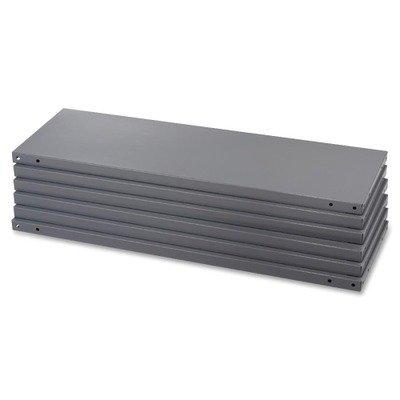 Safco-Industrial Steel Shelving, 6 Shelves, 36w x 12d, Dark Gray ()