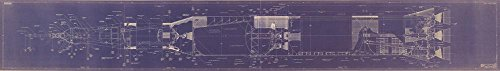 Saturn V 1/72 nd Scale Blueprint Educational Poster Giant