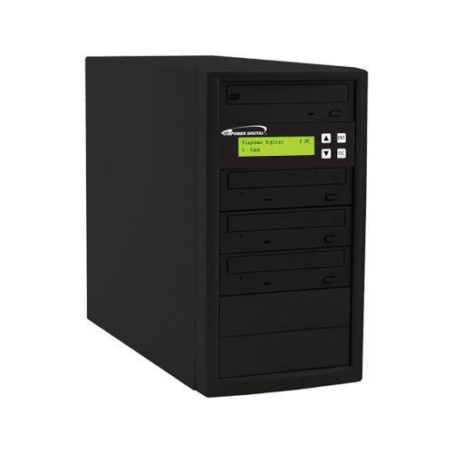 Vinpower Digital Econ-S3T-DVD-BK Econ Series 1 to 3 Target 24 x DVD CD Disc Duplicator Tower SATA Optical Drives - Black