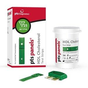 PTS Panels #1714 HDL Cholesterol Test Strips (25 strips /box) for CardioChek Analyzer by CardioChek