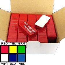 50-Count Red Domino Magentic Holders By CMS Magnetics