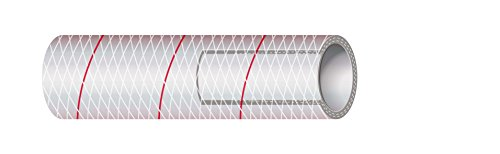 Sierra International All Clear PVC Tubing Polyester Reinforced (Red-Tracer) 3/4