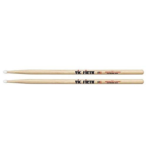 "Vic Firth American Classic Extreme 5A Nylon Tip Drumsticks with Vic Firth Single-sided 6"" Practice Pad"