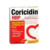 Coricidin HBP Flu Tablets Maximum Strength -- 20 Tablets