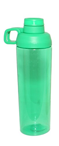 Silver One 25 oz Tritan Plastic Water Bottle with Twist Off Cap & Sipping Spout | Leak/Spill-Proof, Portable for Gym, Hiking, Camping, BPA FREE - By EcoOne