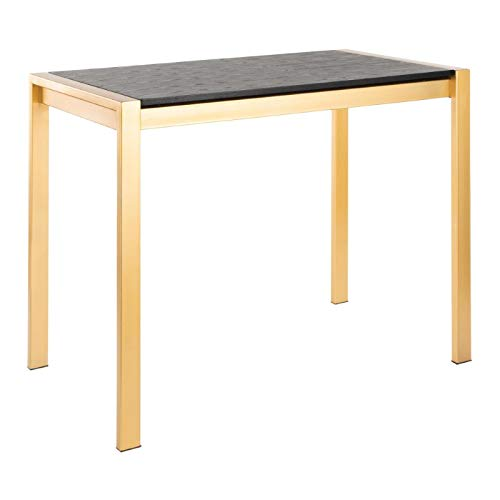 LumiSource Counter Table in Gold and Black
