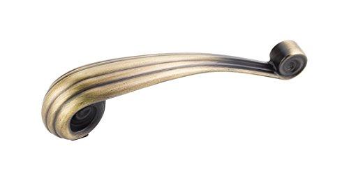 Jeffrey Alexander 415-96V-ABSB Lille Vertical Palm Leaf Pull (Jeffrey Alexander Square Cabinet)