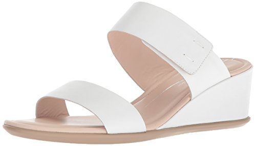 ECCO Women's Women's Shape 35 Wedge 2-Strap Slide Sandal, Bright White, 38 M EU (7-7.5 US)
