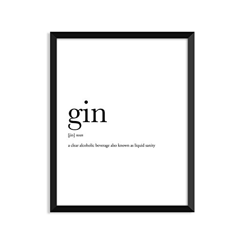 Gin definition, dictionary art print, funny poster, poster, relationships, coworker gifts, family gift, friends gift