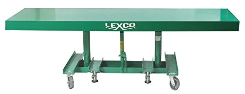 Wesco-Industrial-Products-492131-Lexco-Long-Deck-Hydraulic-Foot-Operated-Lift-Table-2000-lb-Load-Capacity-10-x-30-Tabletop-48-Height