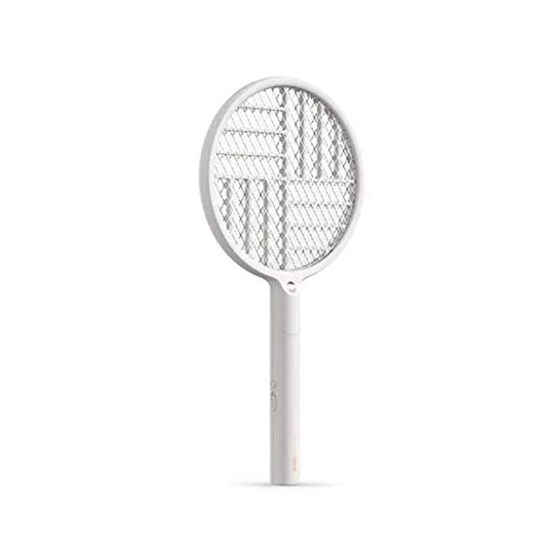 2 in 1 pieghevole elettrico Schiacciamosche 1200mAh - ricaricabile g Zapper Tennis Raet wi Safe To rete della maglia 1 spesavip