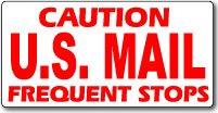 USPS Rural Carrier Magnetic Sign 24x12
