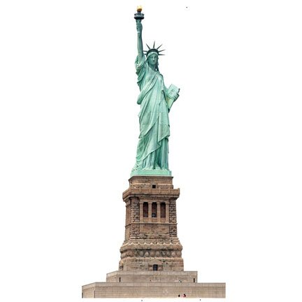 H13017 Statue of Liberty Cardboard Cutout Standup
