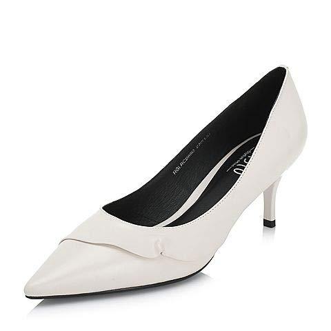 PU alto White Shoes Women's tacón Shallow Autumn de Special zapatos Yukun Mouth t6qRwYp