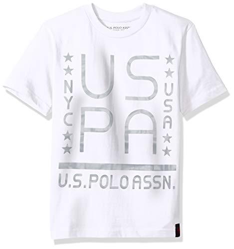 U.S. Polo Assn. Boys Short Sleeve Striped Crew Neck T-Shirt