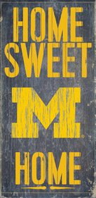 Michigan Wolverines Wood Sign - Home Sweet Home - Michigan In Outlet Mall