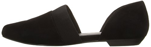 Eileen Fisher Women's Flute-SU Pointed Toe Flat, Black, 8 M US