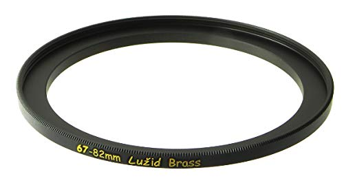 LUŽID X2 Brass 67mm to 82mm Step Up Filter Ring Adapter 67 82 Luzid by LUŽID