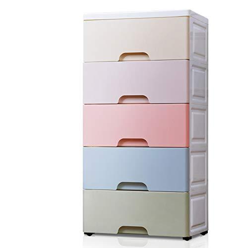 DUXX Caja de Almacenamiento, Caja de Almacenamiento de cajones de plástico de múltiples Capas Ropa de bebé niño Caja de...