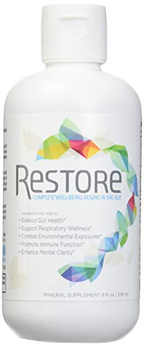 Biomic Sciences RESTORE For Gut Health | Restore 4 Life Trace Mineral & Lignite Liquid For Improved Wellness and Digestion Balance | 8 Ounces (Uses Of Redox Reaction In Daily Life)