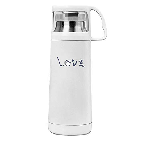 HaiRui YunDa for The Love of Hockey Insulated Stainless Steel Thermos Cup Portable Water Bottle with Handle Vacuum Tea Cup Travel Mug