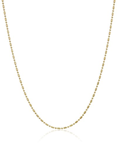 Yellow Dot Gold (Women's 14k Yellow Gold Dot-Dash Chain Necklace, 20