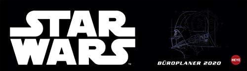 Star Wars Wochenquerplaner - Kalender 2020 - Heye-Verlag - Tischkalender quer mit Schulferien - 32,5 cm x 9,3 cm